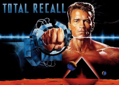 1990's Movie - TOTAL RECALL PAINT STYLE canvas print - self adhesive poster - photo print